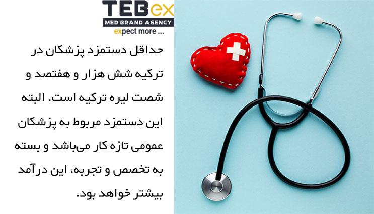 حداقل دستمزد پزشکان در ترکیه