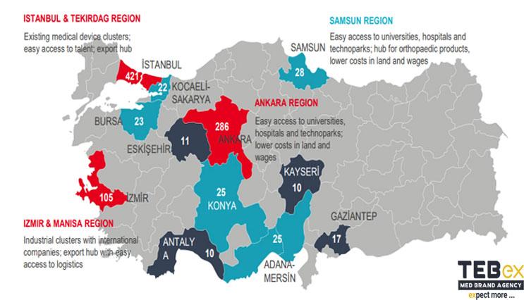 مهمترین مناطق پزشکی ترکیه